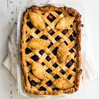 Amaretto Mixed Berry Deep Dish Slab Pie