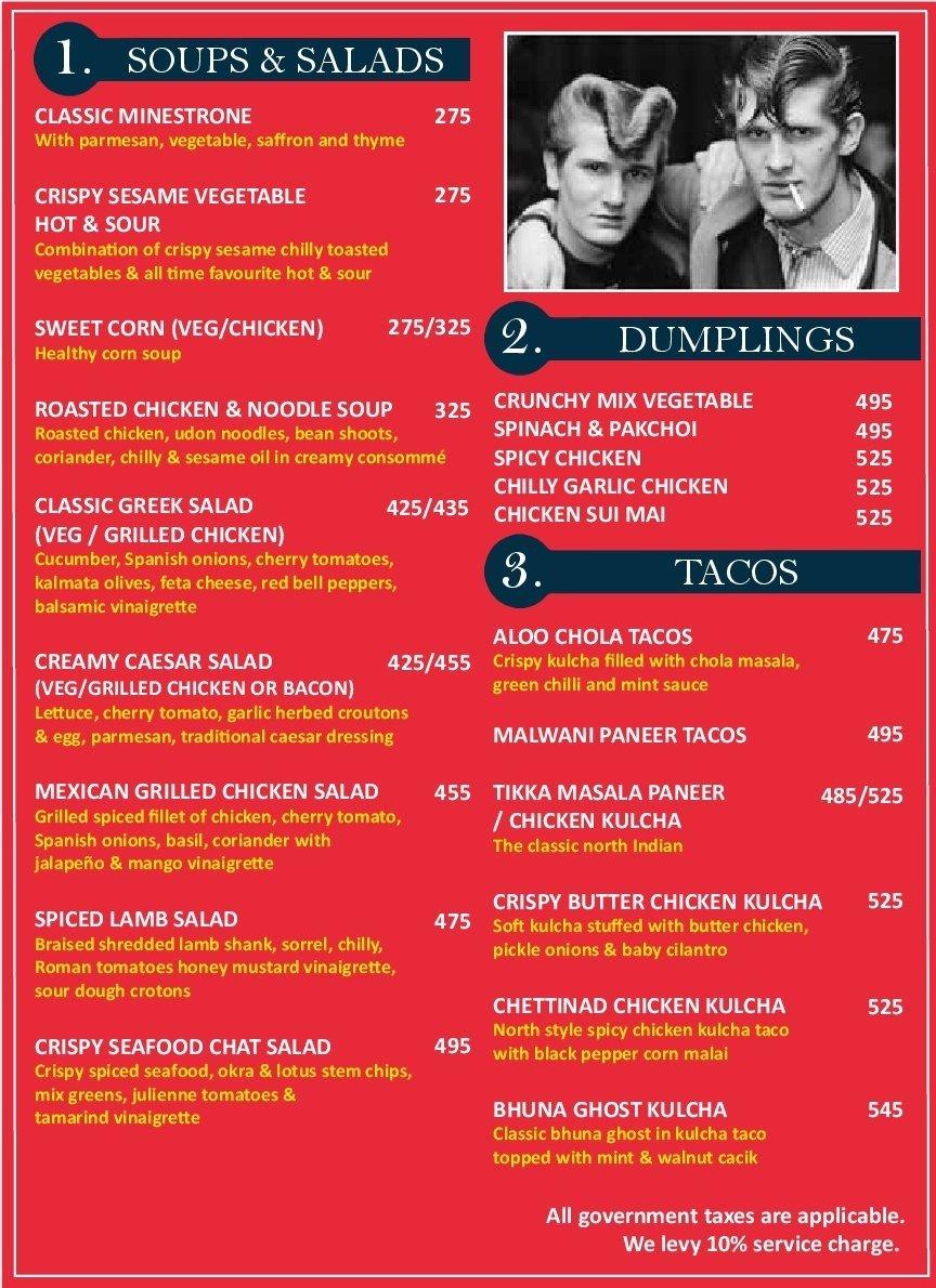 Teddy Boy menu 10