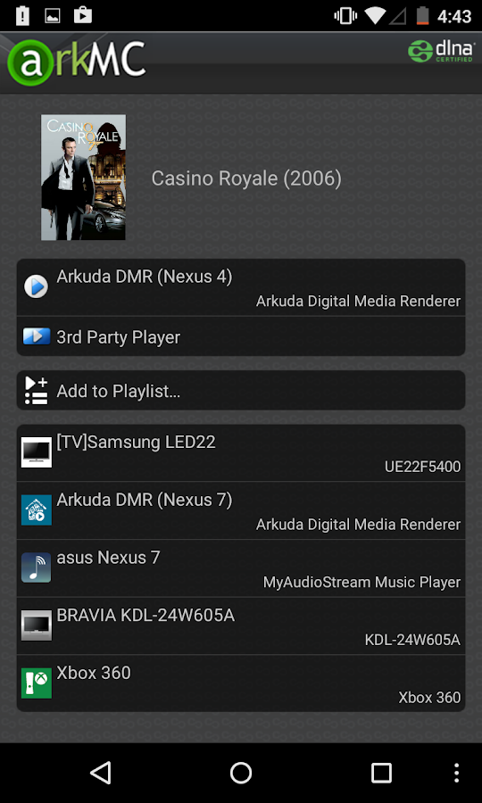 ArkMC UPNP Media Center - screenshot