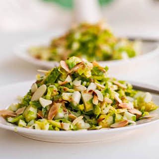 Brussel Sprout Apple Salad with Almonds.