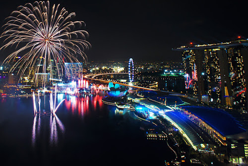 Fireworks over Marina Bay by Jenny Zhang - City,  Street & Park  Skylines ( festive, skyline, colorful, new year, joy, cityscape, architecture, travel, party, marina bay, attraction, business, singapore, city, modern, explode, sky, happy, event, asia, year, festival, celebrate, light, anniversary, building, colors, tourism, fire, holiday, urban, new, explosion, outdoor, fireworks, night, celebration, success, waterfront )
