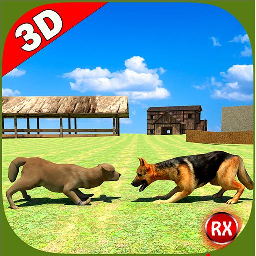动作のファーム犬の戦い LOGO-記事Game