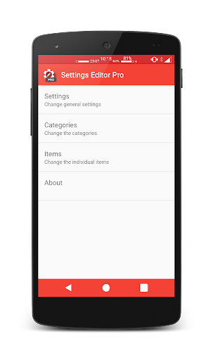 Settings Editor Pro v2.13.1 [Patched]