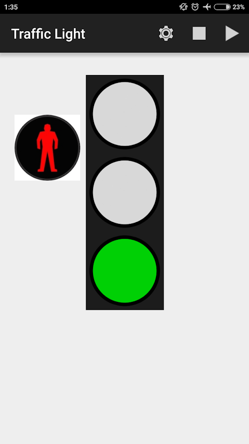 how to change traffic lights with android