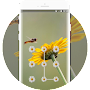 Bees and small daisies theme APK icon