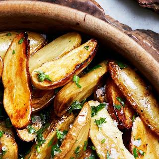 Lemon and Parsley Skillet-Roasted Fingerling Potatoes.
