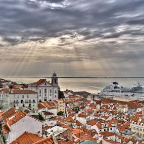Lisbon HDR by Carlos Cardoso - City,  Street & Park  Skylines ( hdr, lisbon )