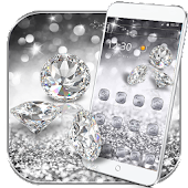 Silver Diamond glitter Theme Wallpaper