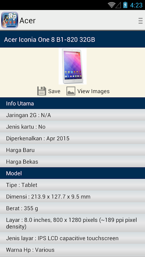 Harga Hp - screenshot