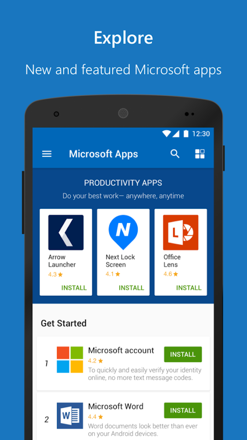 Microsoft Apps- screenshot