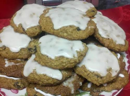 "Grandma Ann's Iced Oatmeal Spice Cookies ""These bring back many childhood memories,..."