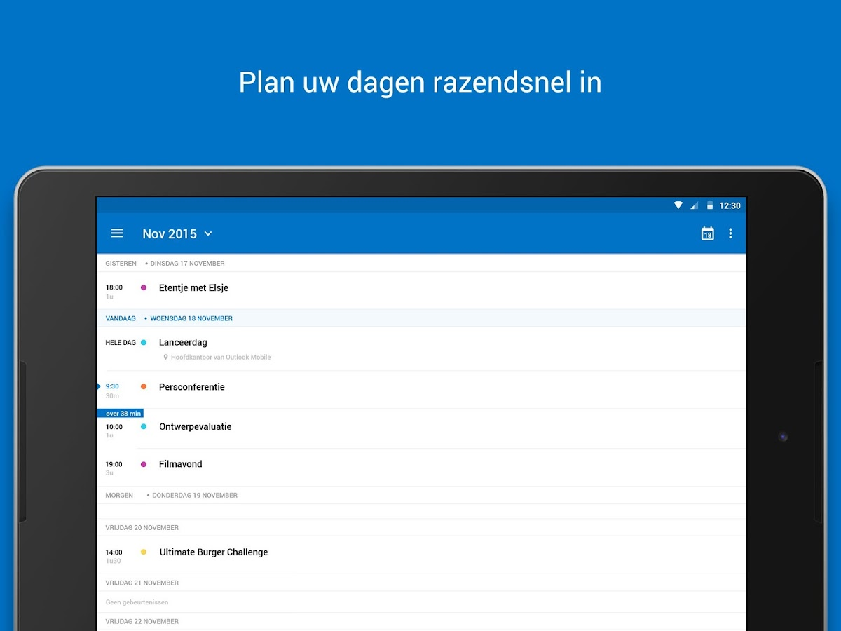 Microsoft Outlook: screenshot