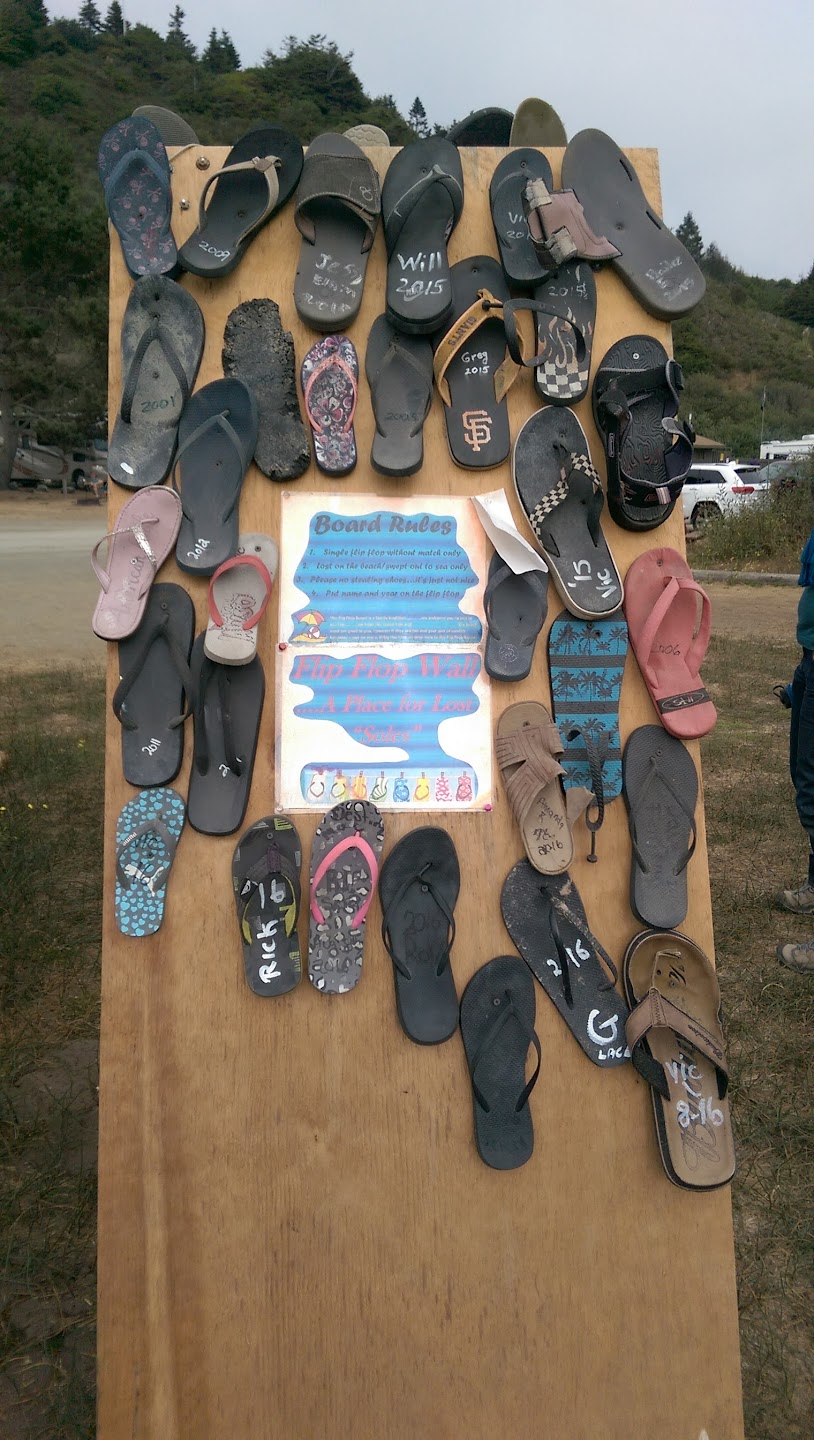 Flipflop Wall at Campground