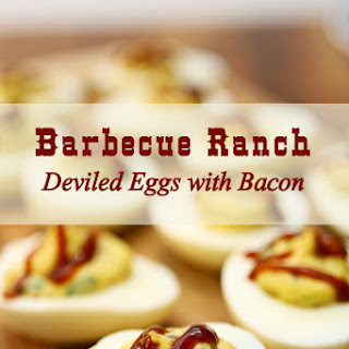 Barbecue Ranch Deviled Eggs with Bacon