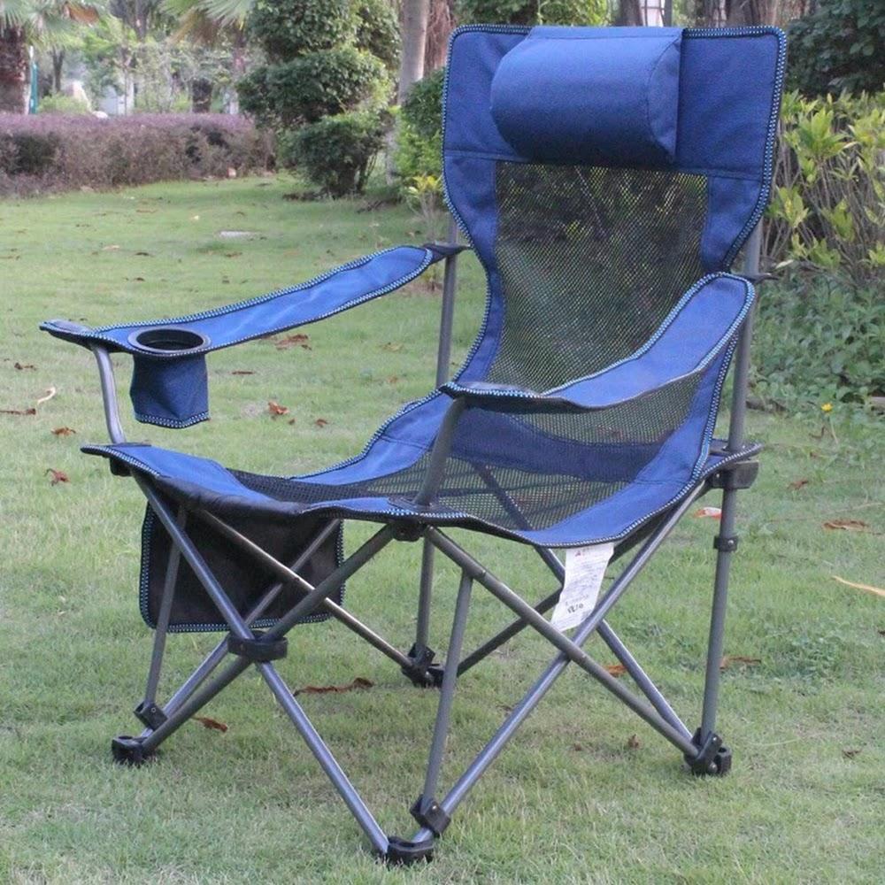 户外折叠便携式靠背釣鱼椅露营休閒沙灘椅午休折叠躺椅