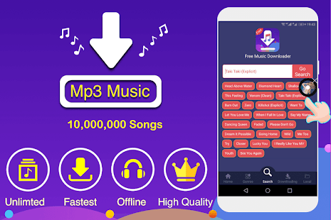 App Free Music Downloader & Mp3 Music Download APK for Windows Phone