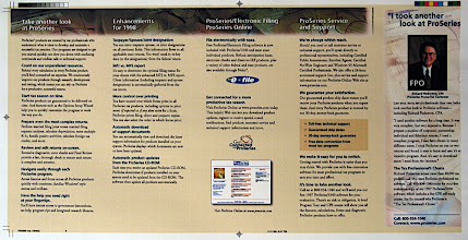 Photo: Inside spread of the Intuit 5-panel brochure.