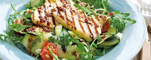 Grilled Halloumi & Courgette Salad
