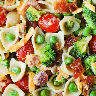Broccoli Bacon Ranch Pasta Salad.