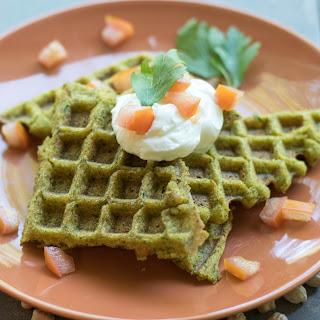Chickpea Falafel Waffles