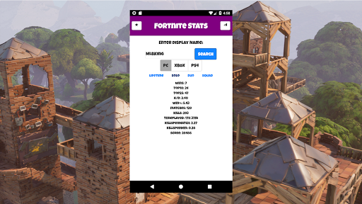 Unofficial Fortnite Stats for PC
