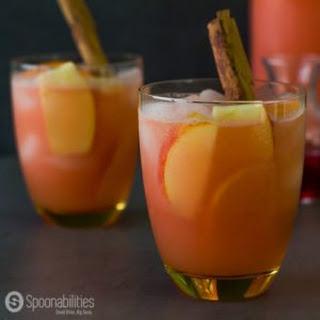 Caramel Apple Cider Vodka Punch.