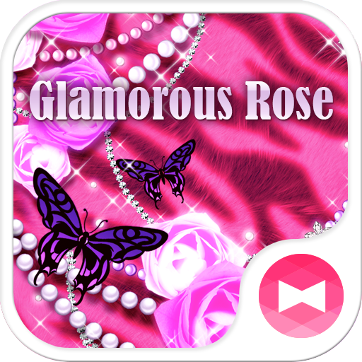 Pink Wallpaper Glamorous Rose Icon