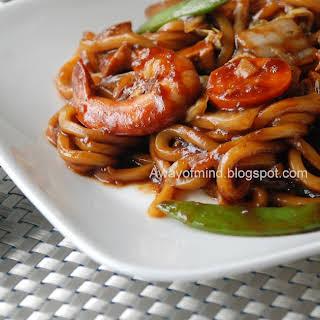 Fried Black Hokkien Noodles.