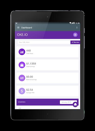 Oke.io - Shorten Urls and Earn Money! 1.0 screenshots 10