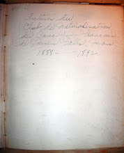 Photo: This book contains the records of the Naturalization Club of French-Canadians in Turners Falls, MA from 1888 to 1892.  It contains many names of local immigrants.