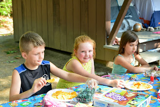 Photo: Kids doing crafts at Fort Dummer State Park by Bill Steele