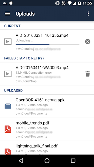 ownCloud- screenshot thumbnail