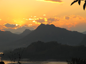 Photo: Day 265 -   Sunset over the Mekong River from  Phousi Hill #2
