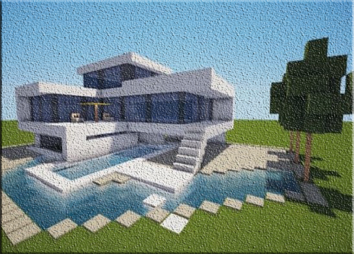The idea of a modern home for minecraft 1.0 screenshots 4