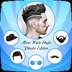 Men Hair Style Set On Face : Photo Editor