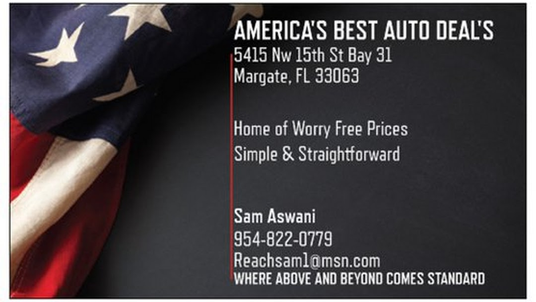 Best Auto Deals >> America S Best Auto Deals Used Car Dealer In Margate