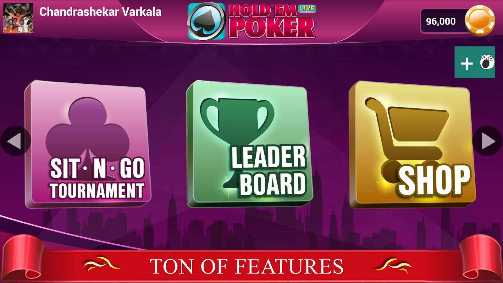 live texas holdem poker online free