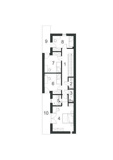 Wąski D9 - Rzut piętra