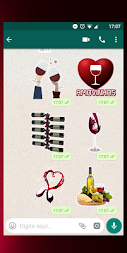 Figurinhas de vinho - WhatsApp WAStickerApps APK screenshot thumbnail 3