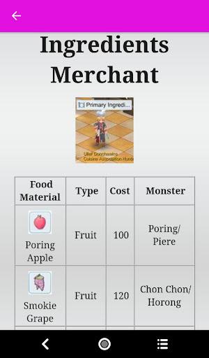 Ragnarok M Eternal Love Cooking Guide 1.0 screenshots 3
