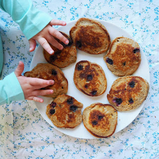 Wholemeal Blueberry Pikelets Recipe