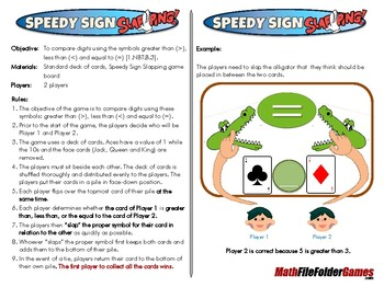 Speedy Sign Slapping - 1st Grade Math Game [CCSS 1.NBT.B.3]