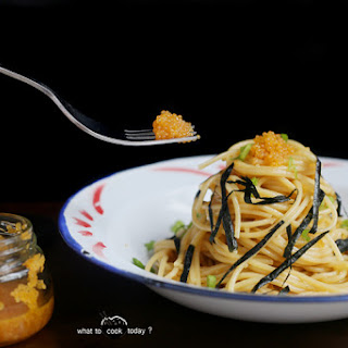Buttery Spaghetti With Fish Roe.