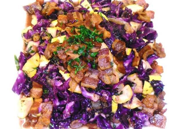 Braised Cabbage Squash & Bacon Recipe