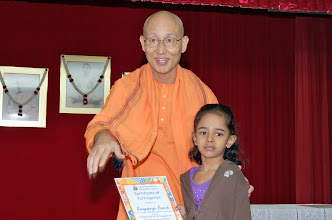 Photo: Swamiji giving away the certificate