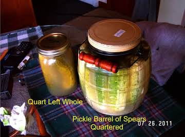 Quick Cucumber Dill Pickles