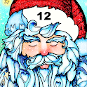 Christmas Color By Number Paint Dropper Puzzle Art icon