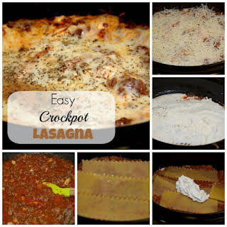 Easy Crockpot Lasagna.