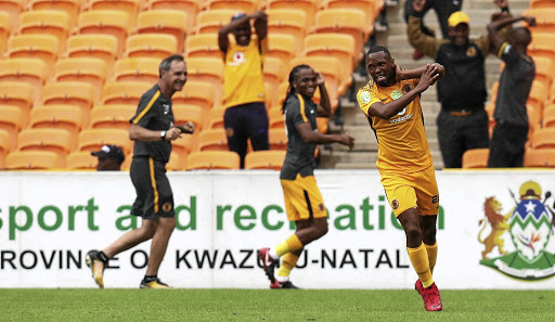 Bernard Parker of Kaizer Chiefs celebrates his goal during the Nedbank Cup last 32 match against Golden Arrows at FNB Stadium on Sunday.