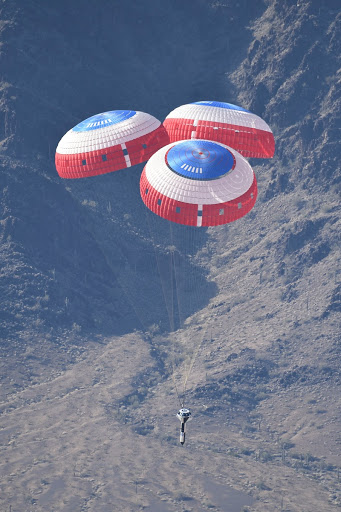 Boeing's Dart and Starliner Parachute System Test